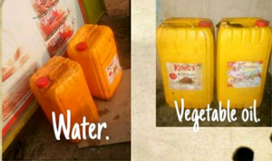 Read how a woman almost paid for kegs of water thinking it was vegetable oil